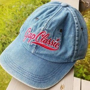 Vtg 90's GAP Blue Jean HAT Denim Classic Adjust